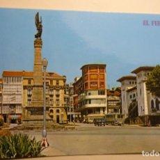 Cartes Postales: POSTAL EL FERROL .- PL.CAMILO ALONSO VEGA-MONUMENTO CAIDOS AFRICA. Lote 158371202
