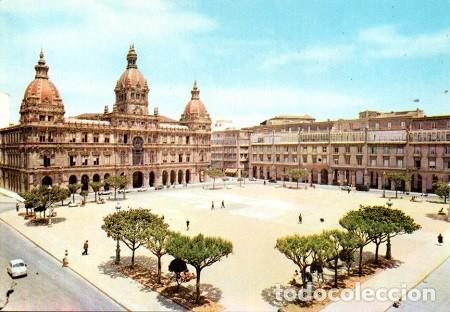 CORUÑA - 598 PLAZA DE MARÍA PITA Y AYUNTAMIENTO (Postales - España - Galicia Moderna (desde 1940))