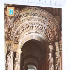 Cartoline: POSTAL DE SANTIAGO DE COMPOSTELA. 33. PORTICO DE LA GLORIA. DETALLE. ESCUDO DE ORO ROMANICO. Lote 158973182