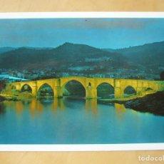 Postales: ORENSE - PUENTE ROMANO. NOCTURNA. Lote 160499782