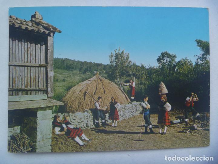 POSTAL DE GALICIA : FOLKLORE GALLEGO. LA ERA . AÑOS 60. (Postales - España - Galicia Moderna (desde 1940))