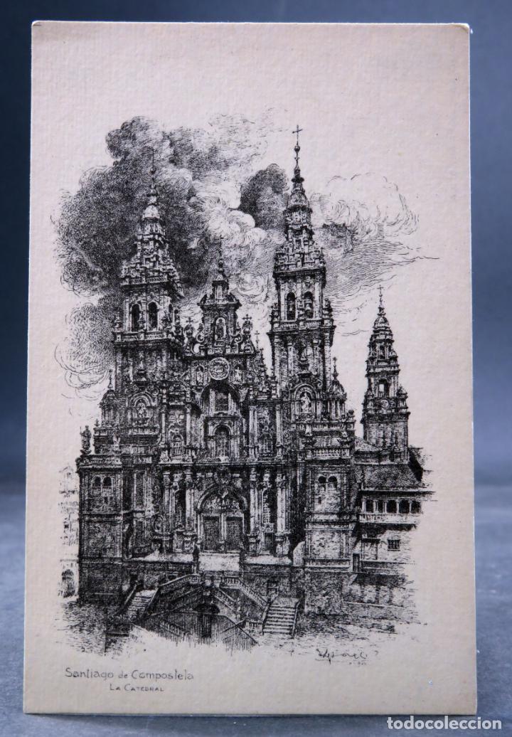 POSTAL SANTIAGO COMPOSTELA CATEDRAL COLECCIÓN ESPAÑA ARTÍSTICA GRÁFICAS REUNIDAS SIN CIRCULAR (Postales - España - Galicia Antigua (hasta 1939))