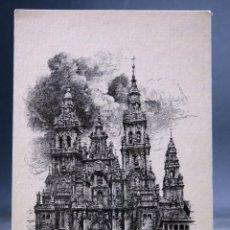 Postales: POSTAL SANTIAGO COMPOSTELA CATEDRAL COLECCIÓN ESPAÑA ARTÍSTICA GRÁFICAS REUNIDAS SIN CIRCULAR. Lote 160843450