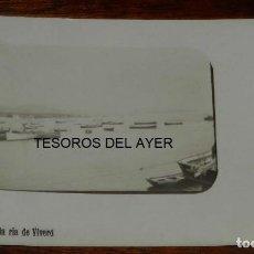 Postales: POSTAL FOTOGRAFICA ENTRADA EN LA RIA DE VIVERO, (VIVEIRO), LUGO, CIRCULADA EN 1914, RARISIMA POSTAL.. Lote 161084206