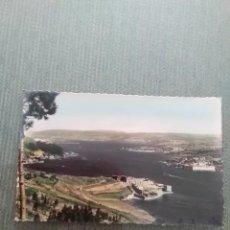 Postales: POSTAL EL FERROL DEL CAUDILLO CASTILLOS DE SAN FELIPE Y LA PALMA. Lote 161522058