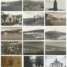 Postales: LOTE 15 POSTALES ANTIGUAS DE CORCUBIÓN - CEE - FINISTERRE - SIN CIRCULAR. Lote 161913602