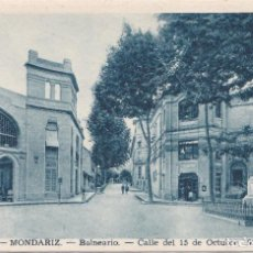 Postales: MONDARIZ (PONTEVEDRA) - BALNEARIO - CALLE DEL 15 DE OCTUBRE DE 1924. Lote 162378966