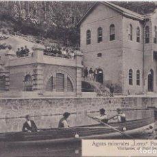 Postales: VERIN (ORENSE) - AGUAS MINERALES LEREZ - VISITANTES AL ESTABLECIMIENTO. Lote 162406074