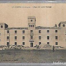 Postales: TARJETA POSTAL DE LA GUARDIA, PONTEVEDRA - COLEGIO DEL APOSTOL SANTIAGO.. Lote 163712630