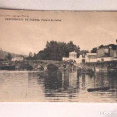 Postales: POSTAL FERROL EL CORREO GALLEGO ALREDEDORES DE FERROL PUENTE DE JUBIA. Lote 163744246