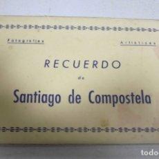 Postales: BLOCK DE 10 POSTALES. RECUERDO DE SANTIAGO DE COMPOSTELA. I. EDICIONES ARRIBAS. VER POSTALES. Lote 163868602