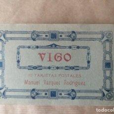 Postales: PRECIOSO CUADERNILLO DE 10 TARJETAS POSTALES DE VIGO (PONTEVEDRA) (1). MANUEL VAZQUEZ RODRÍGUEZ. Lote 164749954
