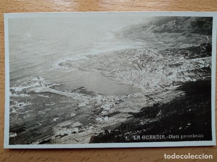 POSTAL FOTOGRAFICA VISTA PANORAMICA. LA GUARDIA. PONTEVEDRA. HOTEL INTERNACIONAL CASA TABOAS (Postales - España - Galicia Antigua (hasta 1939))