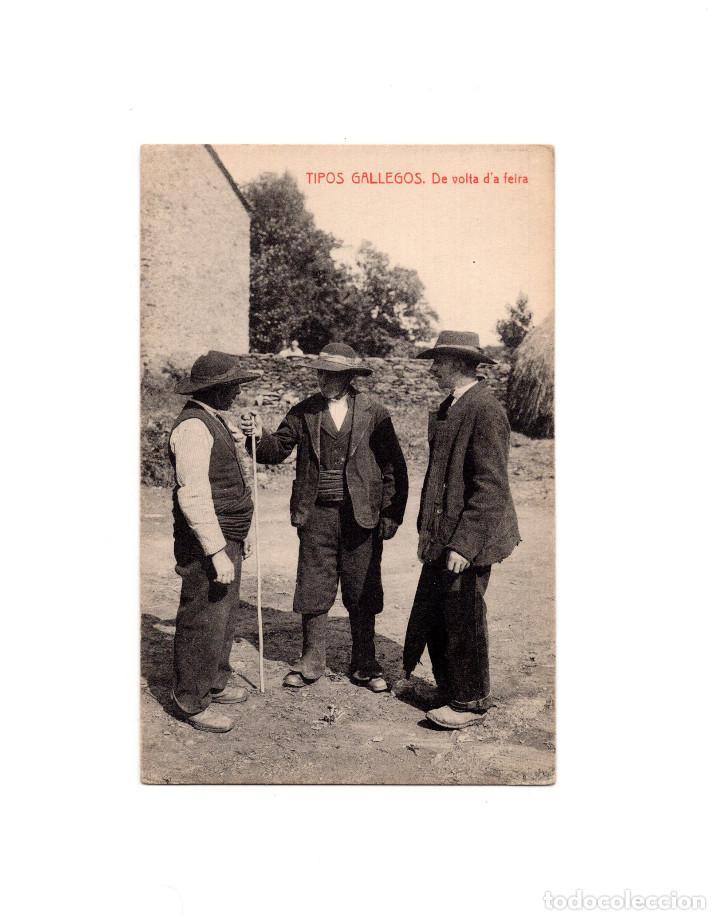 TIPOS GALLEGOS.- DE VOLTA D´A FEIRA (Postales - España - Galicia Antigua (hasta 1939))
