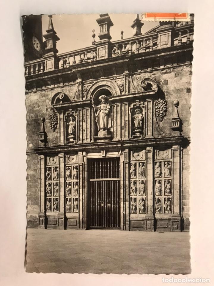 SANTIAGO DE COMPOSTELA. POSTAL NO.28, PUERTA SANTA. EDITA: GARCIA GARRABELLA (A.1963) CIRCULADA.. (Postales - España - Galicia Moderna (desde 1940))