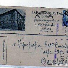 Postales: ORENSE. LIBRERIA SEMINARIO CONCILIAR DE SAN FERNANDO. TARJETA POSTAL COMERCIAL.. Lote 165752298
