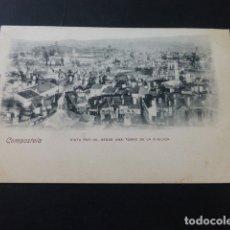 Postales: COMPOSTELA VISTA PARCIAL DESDE UNA TORRE DE LA BASILICA REVERSO SIN DIVIDIR. Lote 165792942
