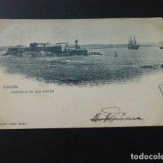 Postales: LA CORUÑA CASTILLO DE SAN ANTON. Lote 165793482