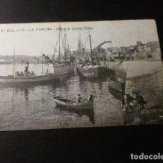 Postales: LA CORUÑA MUELLE DE LINARES RIVAS. Lote 165855054
