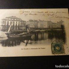 Postales: LA CORUÑA ENSENADA DEL TEATRO. Lote 165858654