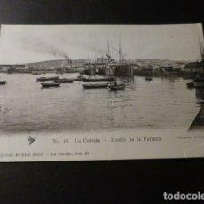 Postales: LA CORUÑA MUELLE DE LA PALLOZA. Lote 165859142
