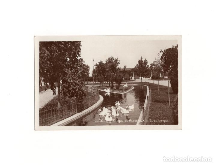 LUGO.(GALICIA).- PARQUE DE ALFONSO XIII , EL ESTANQUE. (Postales - España - Galicia Antigua (hasta 1939))