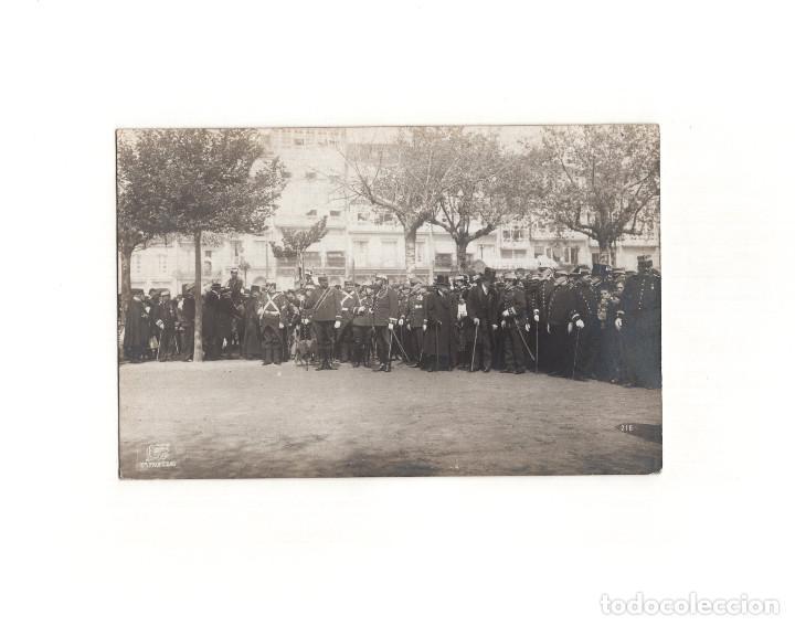 CORUÑA.- ACTO MILITAR. FOTO FERRER. POSTAL FOTOGRÁFICA (Postales - España - Galicia Antigua (hasta 1939))