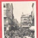 Postales: CORUÑA - 34 CALLE DE CASTELAR, FOTOGRAFICA, CANCELO, CIRCULADA 1934 VER FOTOS. Lote 166366922