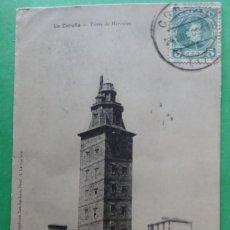 Postales: CORUÑA -TORRE DE HERCULES. Lote 166374386