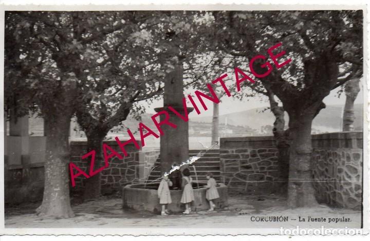 CORUÑA - CORCUBION - FUENTE POPULAR - AÑOS 50 (Postales - España - Galicia Antigua (hasta 1939))