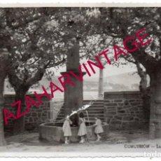 Postales: CORUÑA - CORCUBION - FUENTE POPULAR - AÑOS 50. Lote 167673240