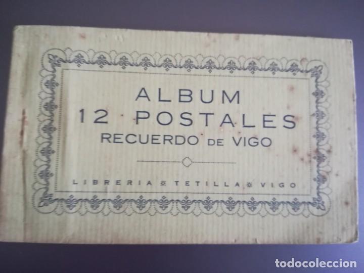 ALBUM 12 POSTALES. RECUERDO DE VIGO. LIBRERIA TETILLA (Postales - España - Galicia Antigua (hasta 1939))