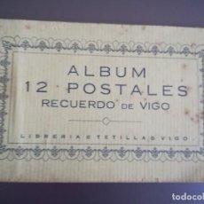 Postales: ALBUM 12 POSTALES. RECUERDO DE VIGO. LIBRERIA TETILLA. Lote 168371812