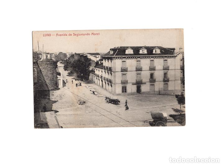 LUGO.- AVENIDA DE SEGISMUNDO MORET. (Postales - España - Galicia Antigua (hasta 1939))