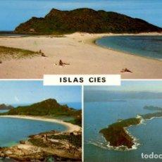 Postales: GALICIA – ISLAS CIES – RIA DE VIGO. Lote 169923404