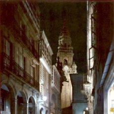 Postales: GALICIA – SANTIAGO DE COMPOSTELA – RUA DEL VILLAR - NOCTURNA. Lote 169924532