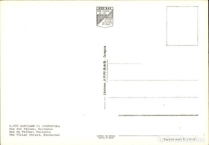 Postales: Galicia – Santiago de Compostela – Rua del Villar - Nocturna - Foto 2 - 169924532