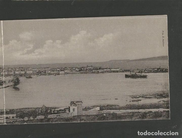 Postales: LA CORUÑA-VISTA GENERAL-29 Y 30-LINO PEREZ-PANORAMICA POSTAL DOBLE-VER REVERSO-(61.080) - Foto 3 - 170011416