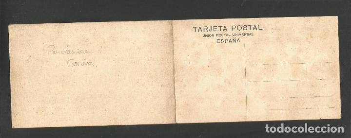 Postales: LA CORUÑA-VISTA GENERAL-29 Y 30-LINO PEREZ-PANORAMICA POSTAL DOBLE-VER REVERSO-(61.080) - Foto 4 - 170011416
