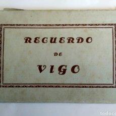 Postales: ESTUCHE DE FOTOGRAFÍAS POSTALES, RECUERDO DE VIGO. 10 POSTALES, COMPLETO. GALICIA.. Lote 170029141