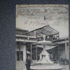 Postales: GALICIA SANTIAGO COMPOSTELA PLAZA DE ABASTOS POSTAL AÑO 1910. Lote 170953219