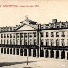 Postales: GALICIA SANTIAGO DE COMPOSTELA CASAS CONSISTORIALES POSTAL ANTIGUA. Lote 170953239