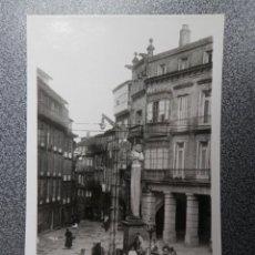 Postales: SANTIAGO DE COMPOSTELA FUENTE DE CERVANTES POSTAL FOTOGRÁFICA ANTIGUA. Lote 170953620