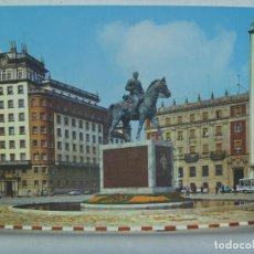 Postales: POSTAL DE EL FERROL DEL CAUDILLO : PLAZA DE ESPAÑA . ESTATUA DEL GENERALISIMO FRANCO . AÑOS 60. Lote 171181718