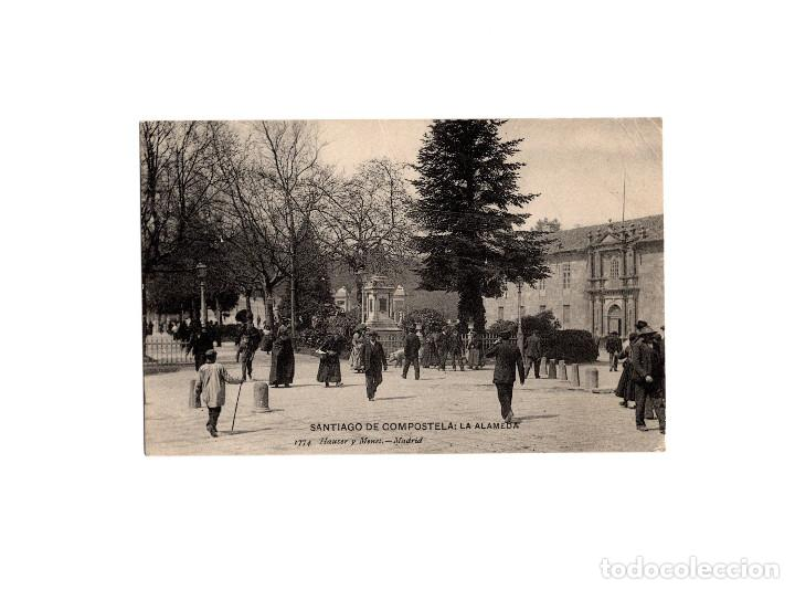 SANTIAGO DE COMPOSTELA.(LA CORUÑA).- LA ALAMEDA. HAUSER Y MENET. (Postales - España - Galicia Antigua (hasta 1939))