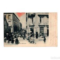 Postales: VILLAGARCIA.(PONTEVEDRA).- CALLE COMERCIO, DÍA DE MERCADO.. Lote 171197647