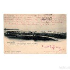 Postales: VILLAGARCIA.(PONTEVEDRA).- VISTA DE LA RÍA Y ESCUADRA INGLESA DEL CANAL.. Lote 171197888