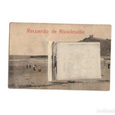 Postales: RIVADESELLA.- RECUERDO. 12 MINI VISTAS. POSTALES DESPLEGLABLE.. Lote 171207647