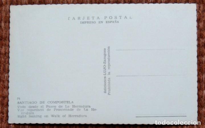 Postales: SANTIAGO DE COMPOSTELA - VISTA DESDE EL PASEO DE LA HERRADURA - Foto 2 - 171405742