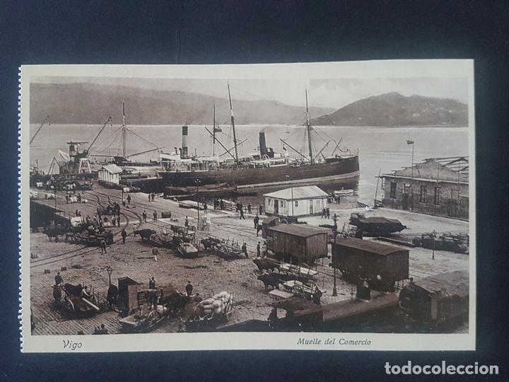VIGO PONTEVEDRA MUELLE DEL COMERCIO (Postales - España - Galicia Antigua (hasta 1939))